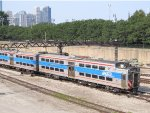 Metra Electric District Train passing through the Grant Park Trench