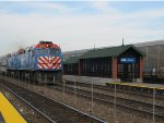 Metra BNSF Train passing the renovated Cicero Station