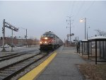 Metra Rock Island District Express Train passing the 95th Street (Longwood Manor) Station
