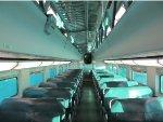 Metra BNSF Passenger Car Interior