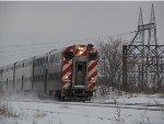 Metra Milwaukee District Train cruising near Racine Avenue