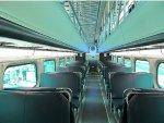 Metra Bi-Level Passenger Car Interior at the 2015 Franklin Park Railroad Daze