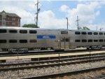 Metra BiLevel Passenger Car at the 2015 Franklin Park Railroad Daze