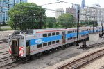Old Metra Electric Highliner Trains in the 18th Street (Weldon) Yard