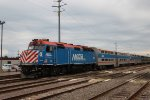 Metra UPN Train at the Waukegan Yard