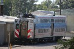 Old Metra Electric Highliner Train in the NICTD South Shore Line Carroll Avenue  Yard