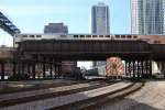 Double Decker Metra Crossing at Clinton Street