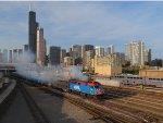 Smokin Metra Train Leaving Union Station