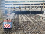 Metra BNSF Train Departing from Chicago Union Station
