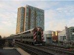Metra UPN Train at Evanston Davis Street Station