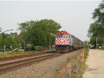 Metra UPN Train approaching Wilmette
