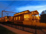 Twilight at the South Chicago Metra Electric District Terminal