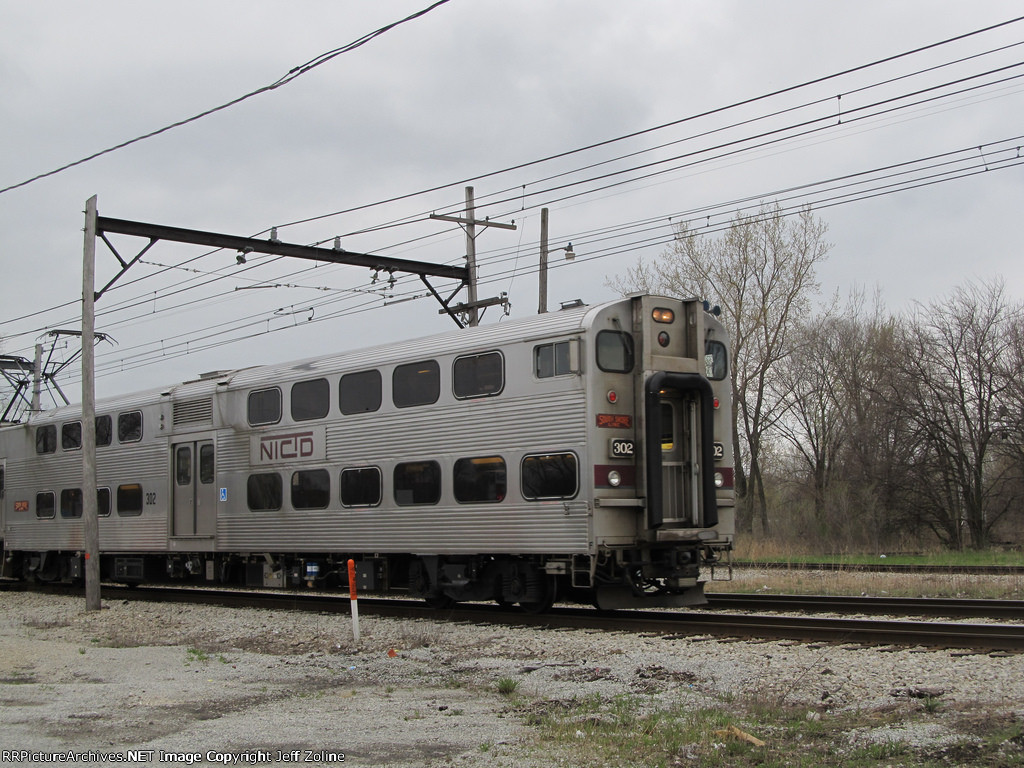 NICTD South Shore Train crossing the State Line