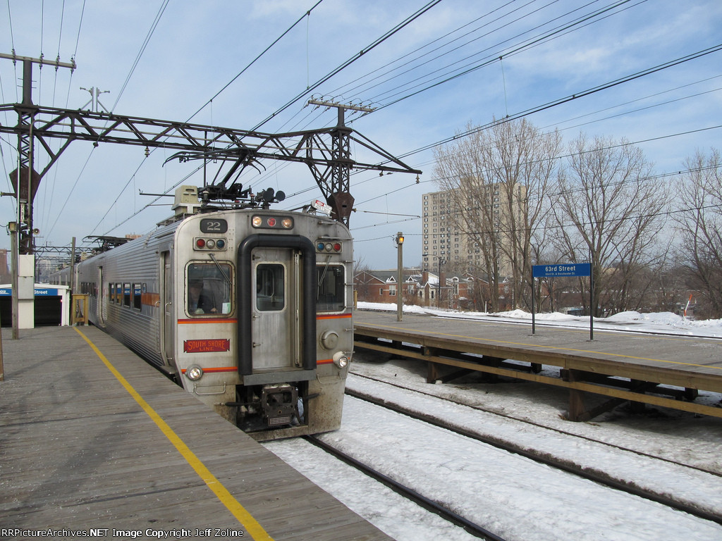 NICTD South Shore Line Train at 63rd Street