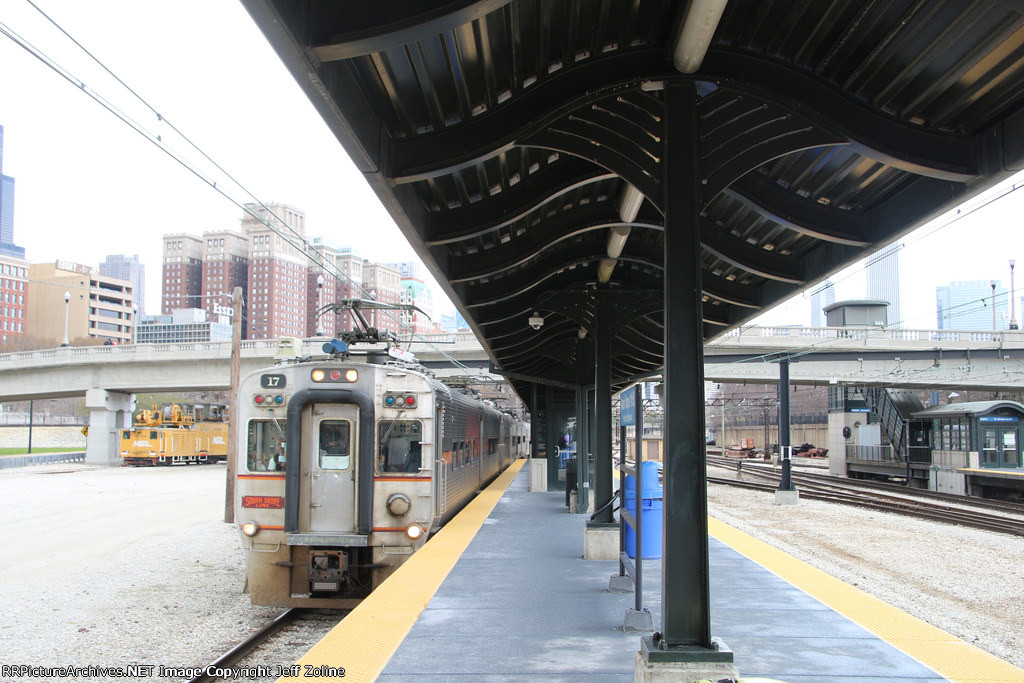NICTD South Shore Line Train at Museum Campus/11th Street Station