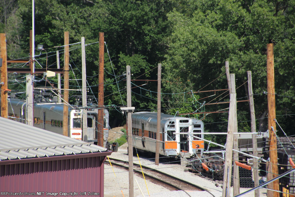 Old NICTD South Shore Line Trains at the Carroll Avenue Yard