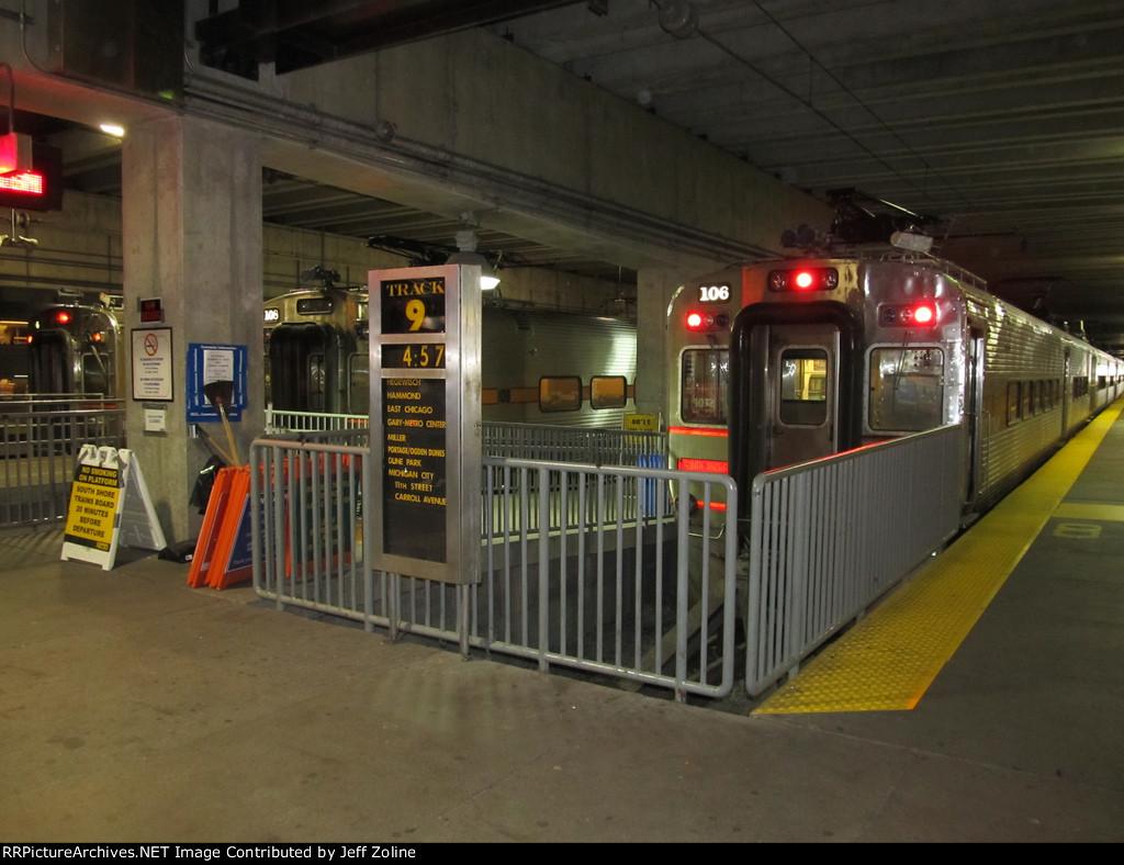 Millennium Station South Shore Line Platform