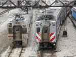 South Shore Line & Metra Electric Trains near Millennium Station