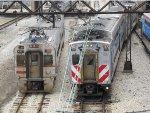 South Shore Line & Metra Electric Trains near Millennium Station