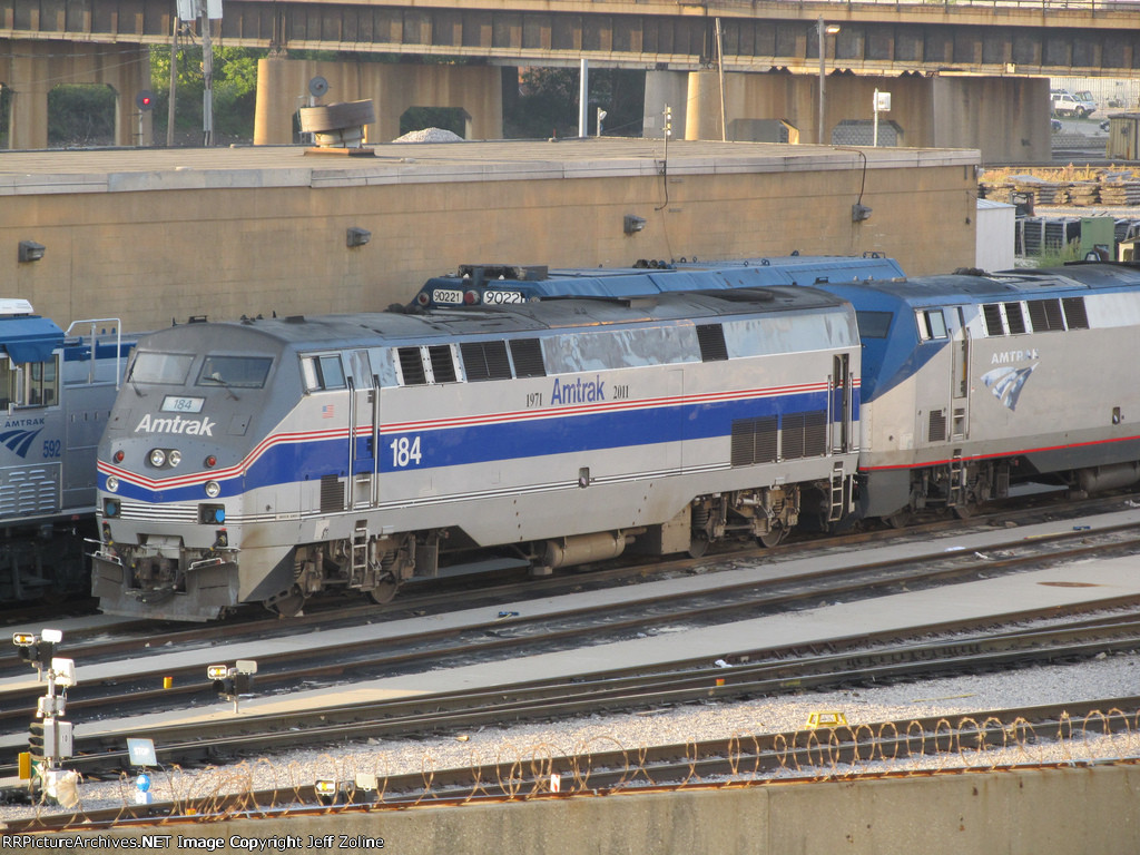 Amtrak 40th Anniversary Train at the Chicago Yard
