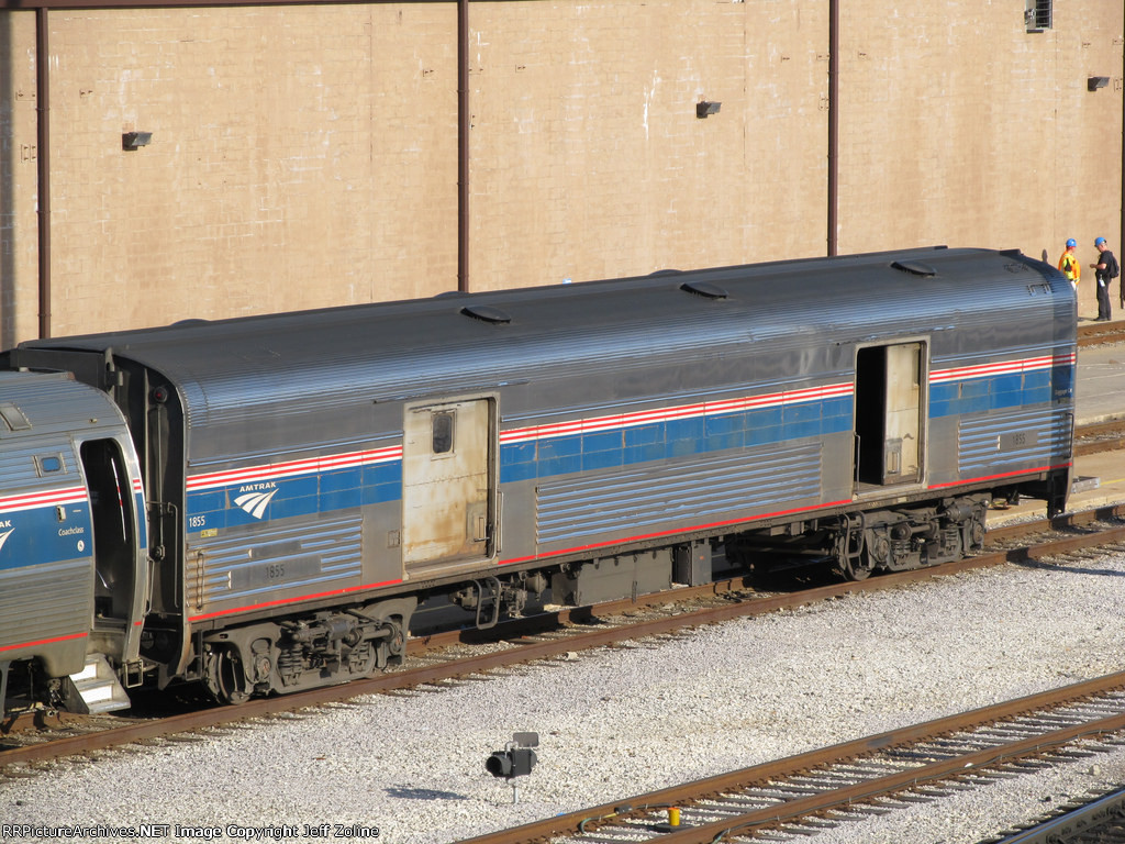 Amtrak Baggage Car in the Chicago Yard