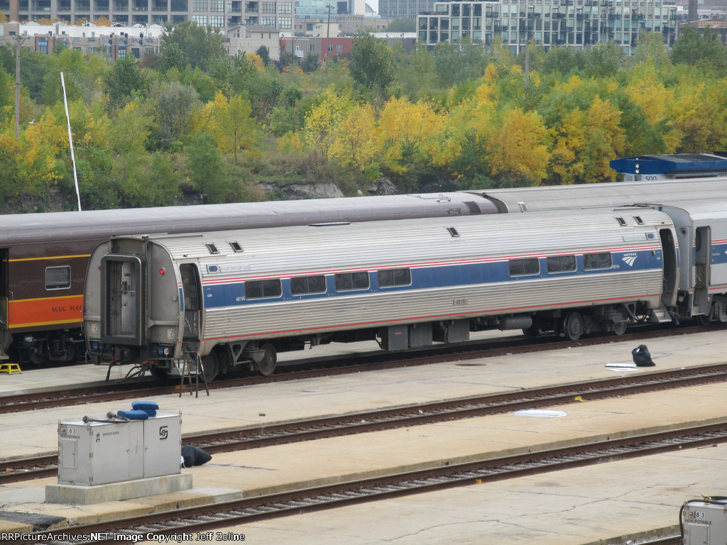 Amtrak Diner Car in the Chicago Yard