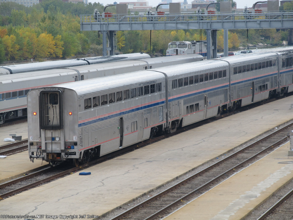 Amtrak Superliner Car in the Chicago Yard