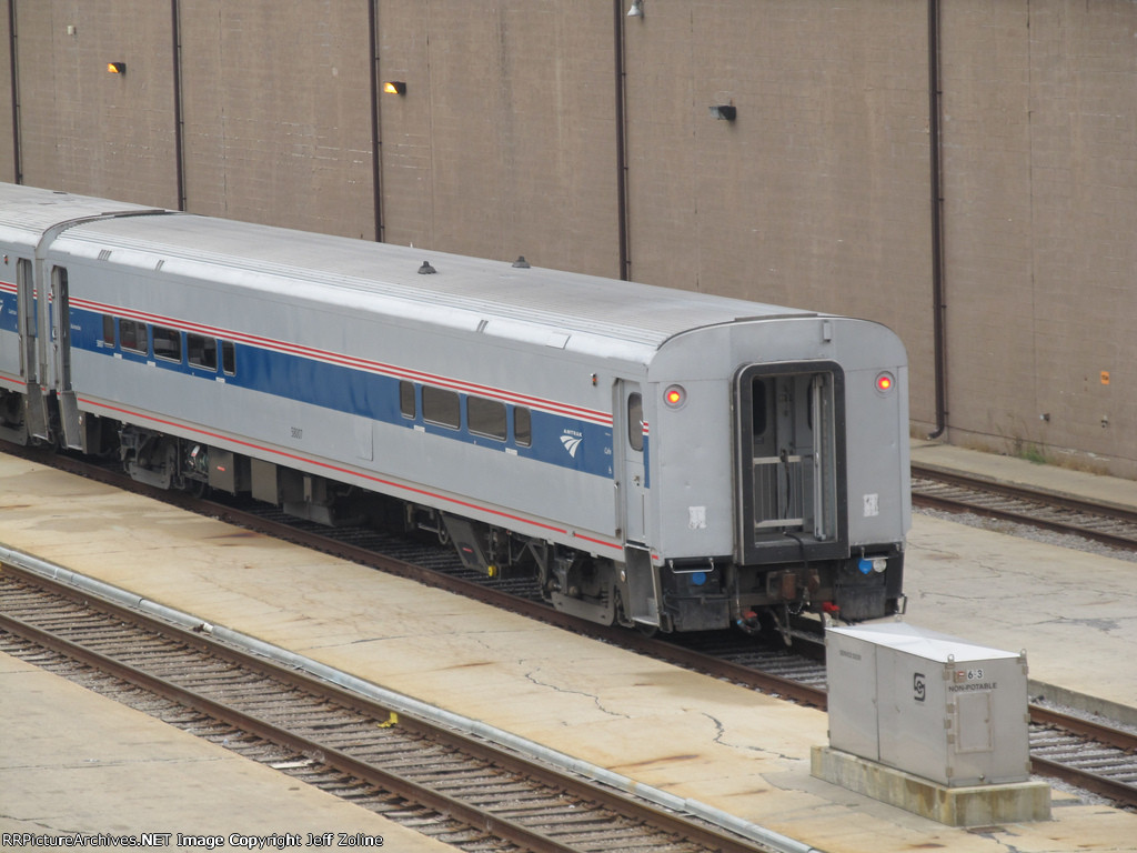 Amtrak Business Class Car in the Chicago Yard