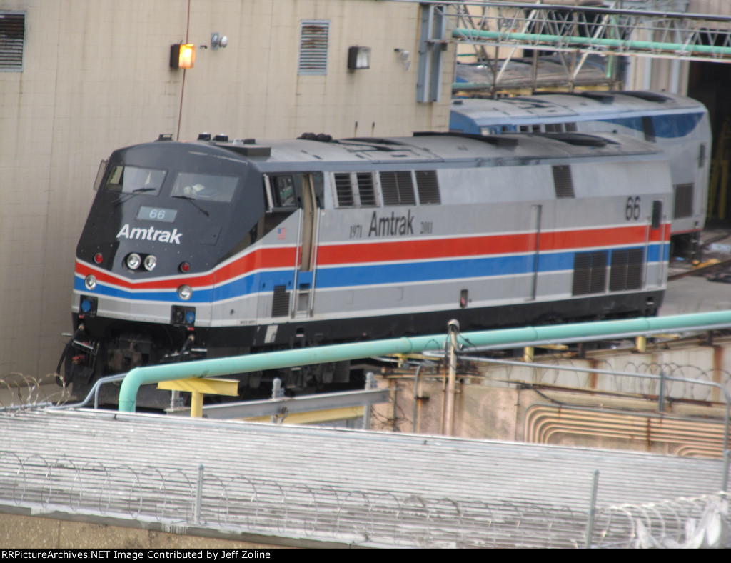 New Amtrak 40th Anniversary Train Engine Parked at the Chicago Yard