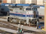 Amtrak Train Engine Parked at the Chicago Yard