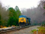 CSX 618 sitting at Golden Grain