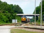 CSX 3027 leading Q616-11 at Raleigh ST