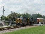 CSX Q457-09 at the Folkston Funnel with FEC 720 trailing