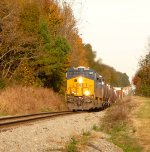 CSX Q468-09 coming into Indian Trail with a Boxcar Gevo on the point