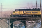 CSX 8363 renumbered but still in Chessie colors