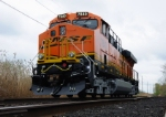 BNSF 7840 (Brrand New) is waiting pickup on the CSX interchange track