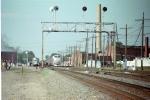 Amtrak arrives at the station