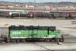 BNSF 2908 at argentine yard