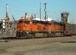 BNSF 6241 pulls in