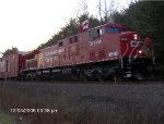 CP 9714 leads Holiday Train