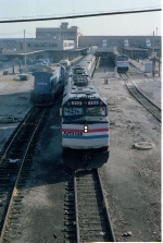 The Lake Shore Limited leaves Toledo Union Terminal for Chicago