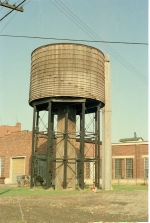 Wooden water tank at DT&SL Yard