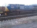 CSX 7829 after dropping CSX 8752 to recouple to B713 and head west