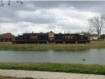 CSX 6469 and 2332