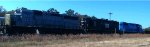 Lancaster and Chester Freight Train with Grey and Black Engines in Richburg, SC
