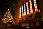 Best Friend under the Christmas Tree at the NYSE for Norfolk Southern 175th Anniversary