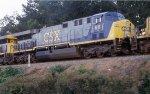 CSX 611 on a late Q102