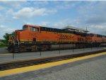 BNSF 7501 with intermodal
