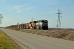 BNSF 9786 Heads up a Eb coal load.