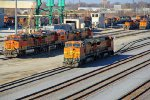 BNSF 527 and others sit in Galesburg IL,